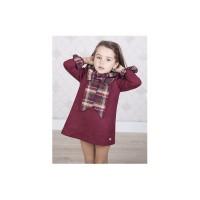 vestido burdeos EVE CHILDREN ve706