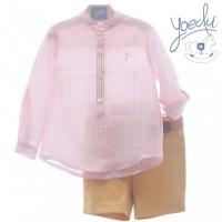 Conjunto infantil niño pantalón bermuda Y cinturón 1224 Padua YOEDU