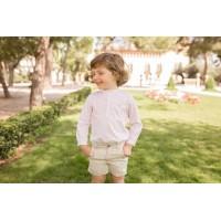 Camisa m/l y pantalón corto infantil niño 2265 DOLCE PETIT