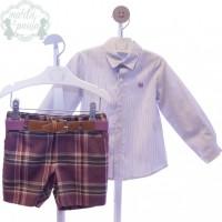 Traje infantil niño bermuda y cinturón Inseparables 4024 MARTA Y PAULA