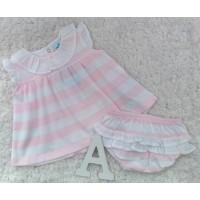 Jesusin niña algodon pique rosa SARDON CO501