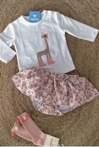 Conjunto braguita jirafa rosa 461798 petit